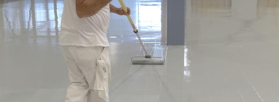 Pavimentos de resina epoxi for Pintar suelo ceramico