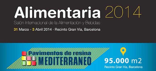Pavimentos de resina en la FERIA ALIMENTARIA 2014