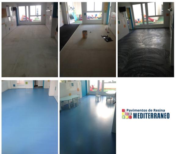 pavimentos de resina flexible para colegios y guarderías